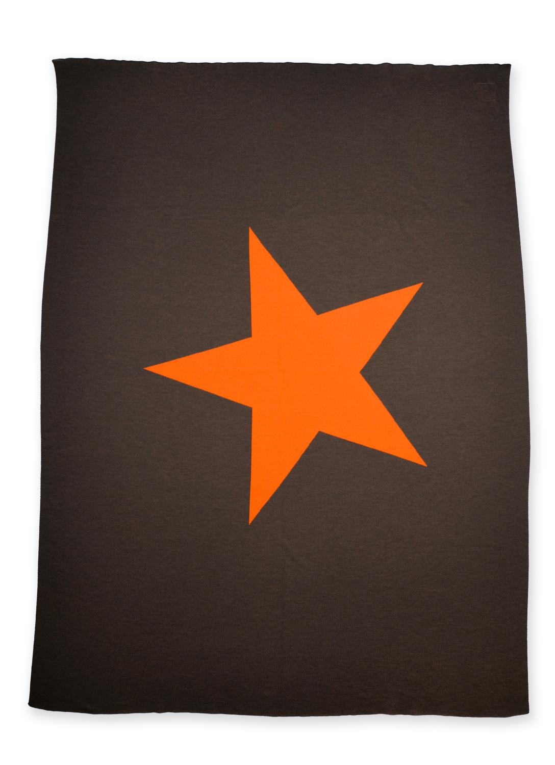 Decke 140x180cm Star, braun/orange