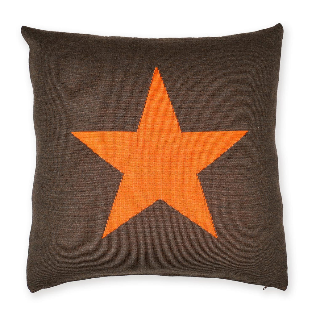 Kissenhülle 50x50cm Star, braun/orange - Lenz & Leif