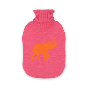 Wärmflasche 2l Elephant, magenta/orange