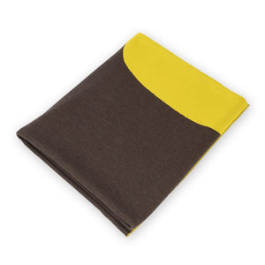 Bed throw 200x240cm pineapple, brown / yellow