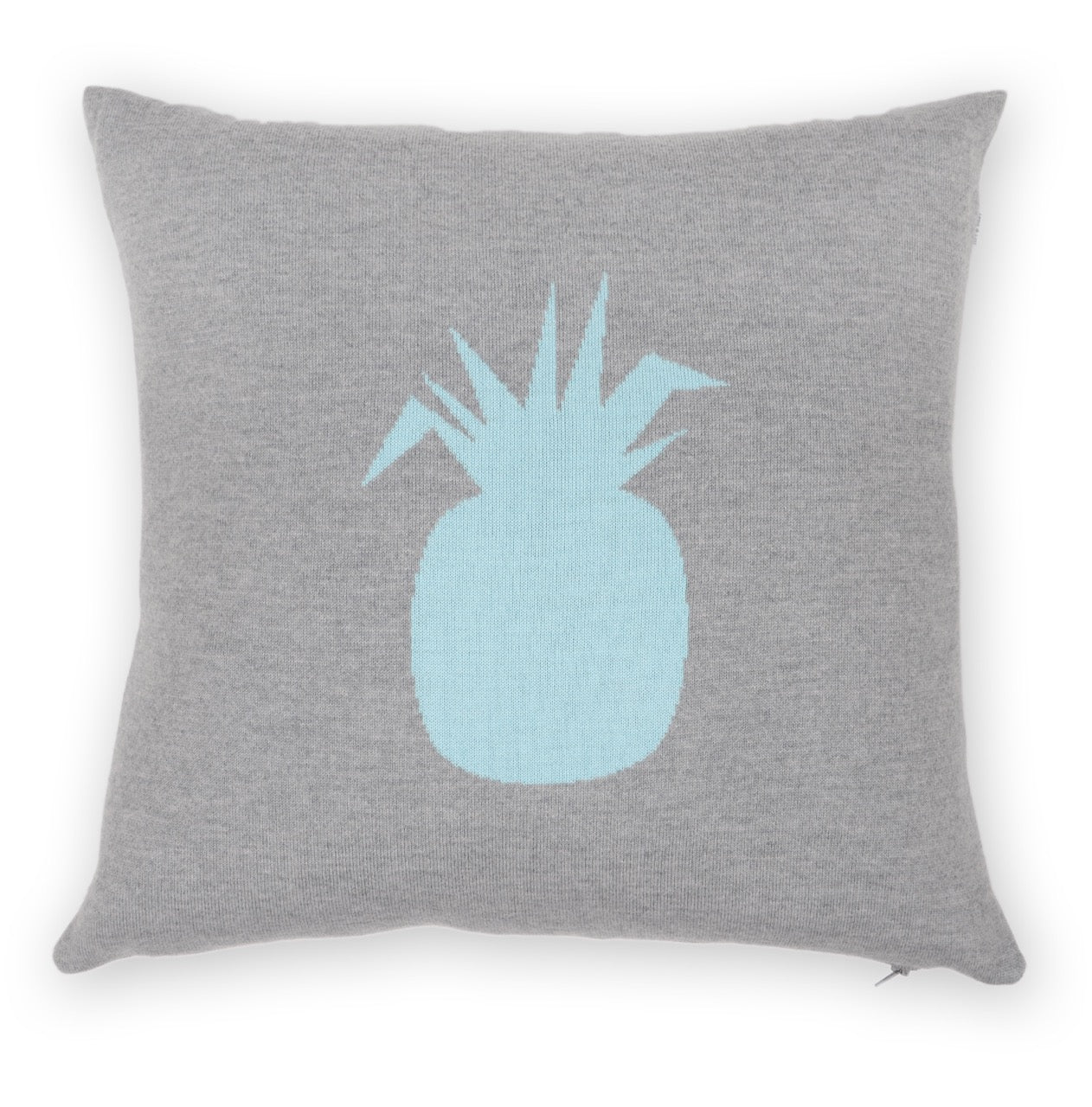 Cushion cover 50x50cm pineapple, gray / turquoise