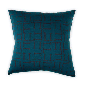 Cushion cover 50x50cm LL all over, petrol / dark gray