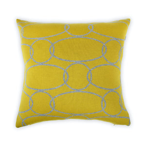 Cushion cover 50x50cm Rings, mustard / gray