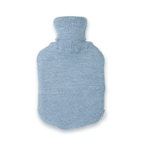 Baby / children's hot water bottle Valerie, light blue mottled