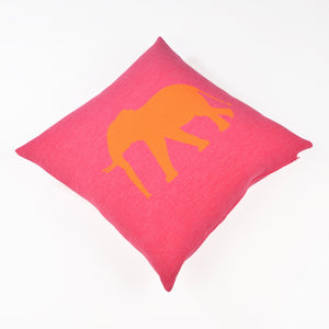 Kissenhülle 50x50cm Elephant, magenta/orange