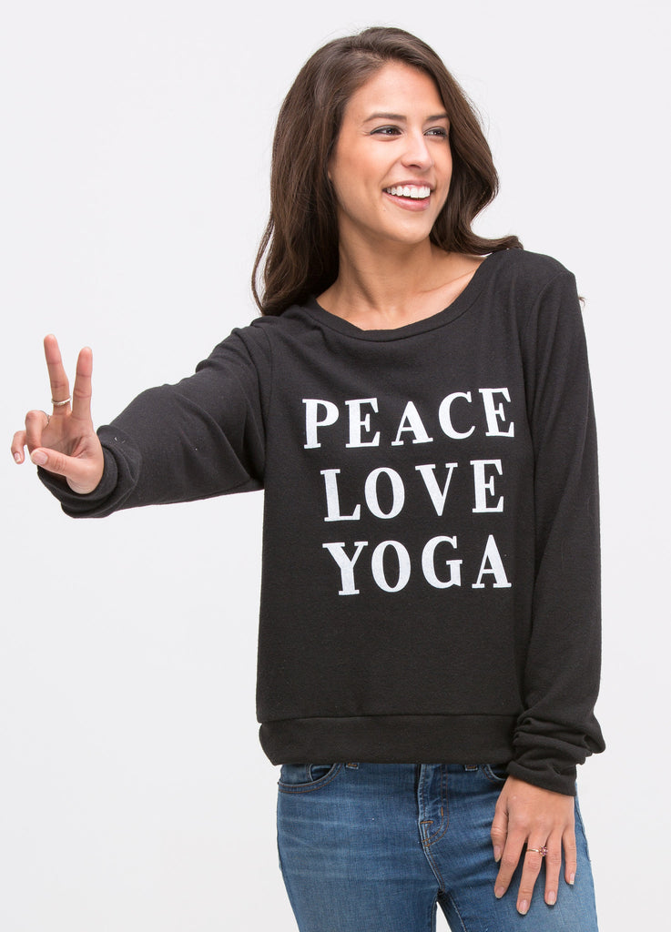 Peace, Love, Yoga Sweatshirt