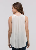 Sleeveless Grommet Top in Ivory