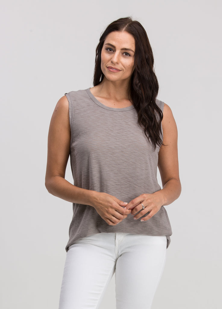 Zuma Muscle Tank in Lt. Grey