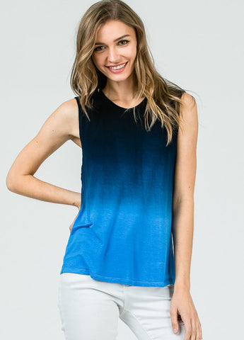 Sleeveless Ombre Top in Blue