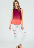 Sleeveless Ombre Top in Tangerine