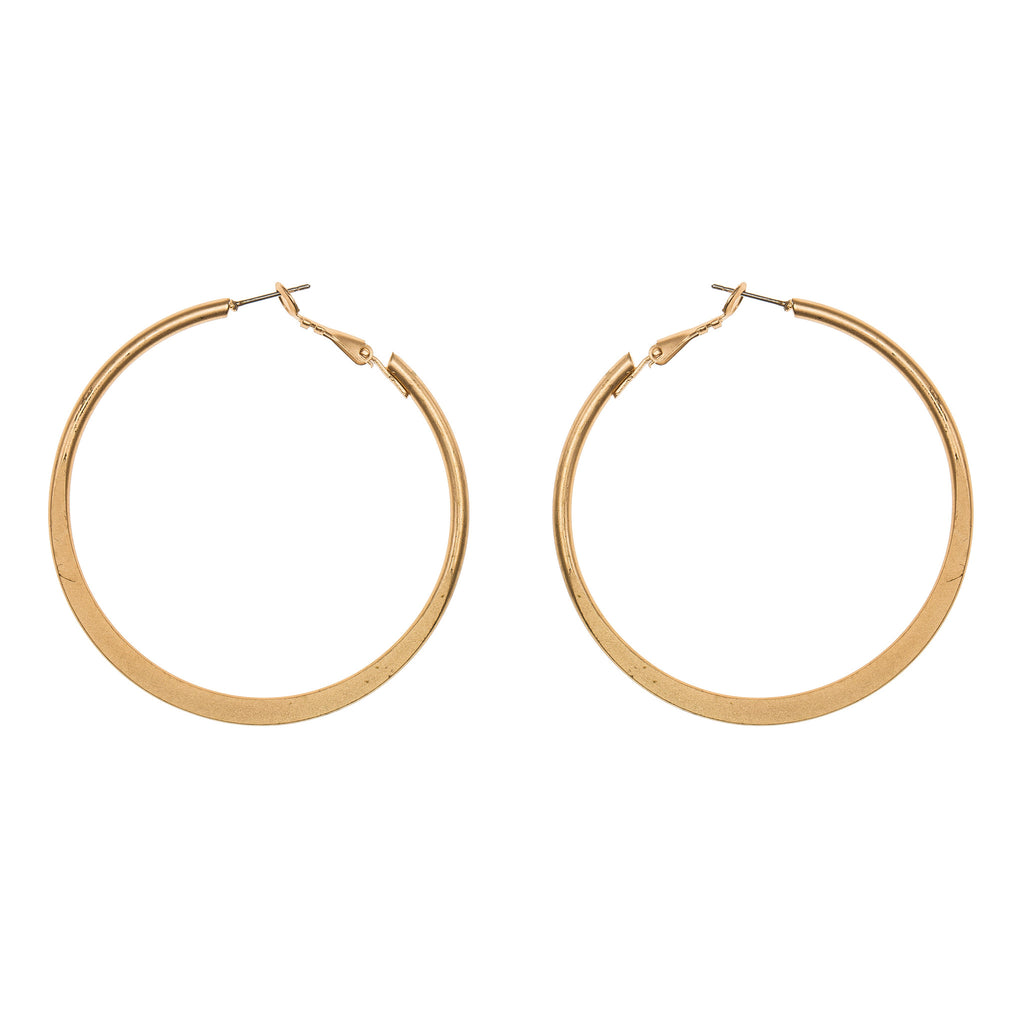 Midi Matte Gold Hoop Earrings