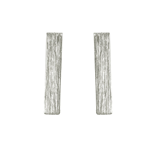 "1/2"" Silver Bar Earrings"