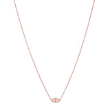 CZ Evil Eye Necklace in Rose Gold
