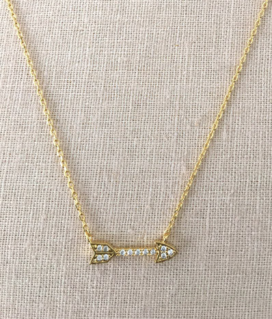 Crystal Arrow in Gold