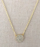 CZ Disc Necklace in Gold