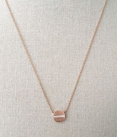 Screw Pendant in Rose Gold