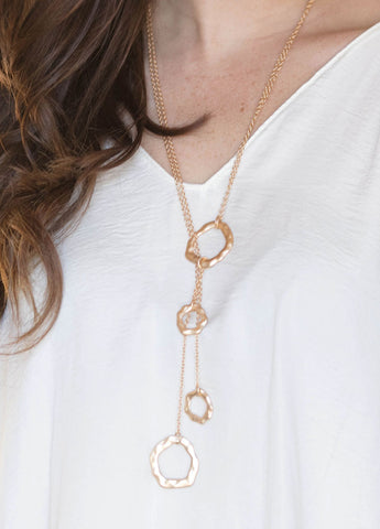 Wavy Matte Gold Necklace