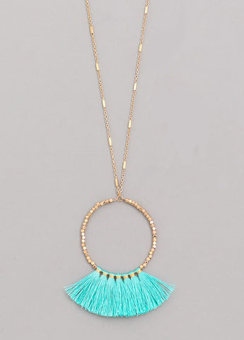 Tassel Circle Ring Necklace