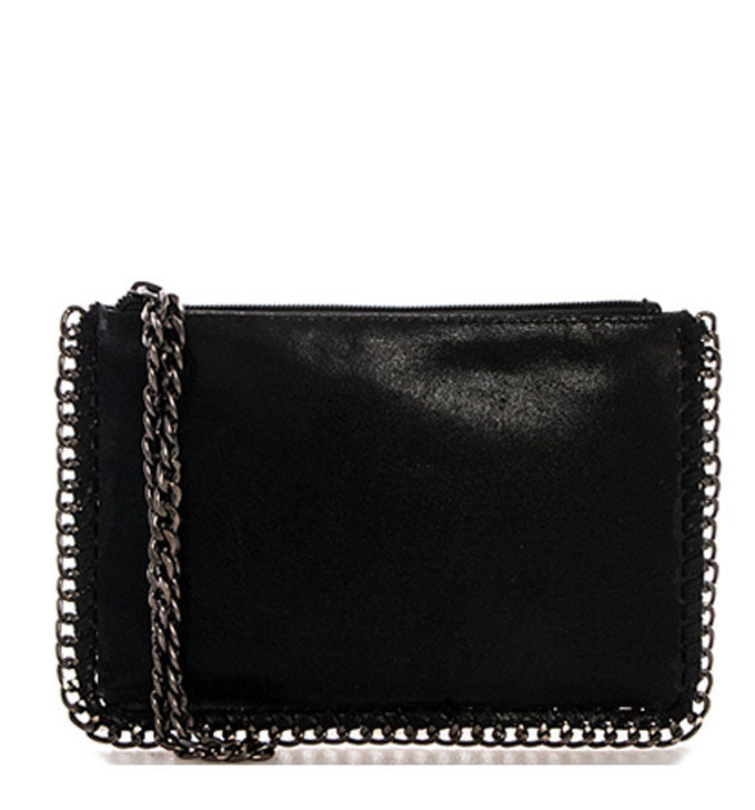Jenna Crossbody and Wristlet in Black