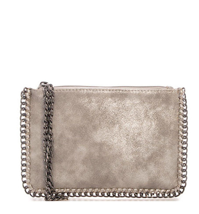 Jenna Crossbody and Wristlet in Distressed Gray