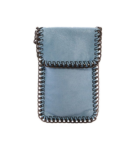 Kelly Cell Phone Crossbody in Sky Blue