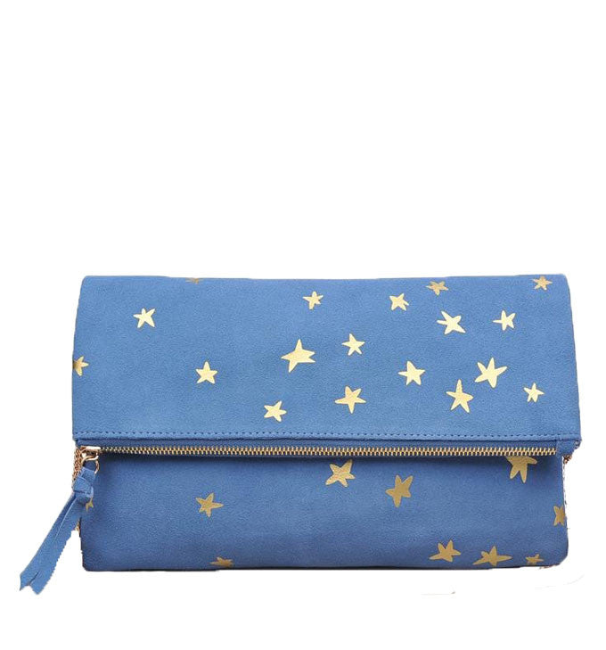 Mandi Clutch in Cornflower Blue