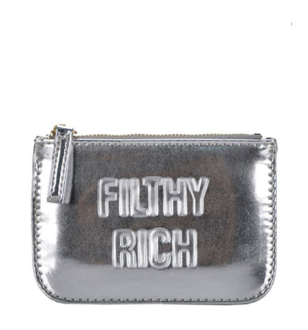 Filthy Rich Coin Pouch in Silver