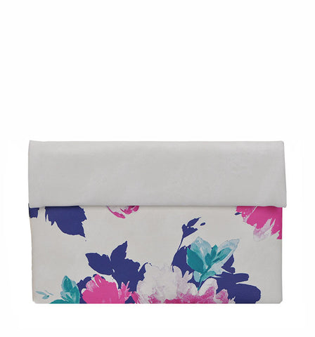Gracie Floral Clutch in White