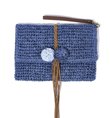 Zoe Clutch in Blue