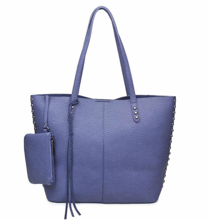 Penelope Tote in Slate Blue