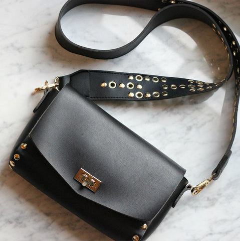 Julia Studded Crossbody in Black