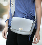 Julia Studded Crossbody in Pale Grey