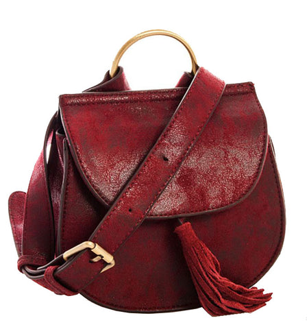 Jenni Saddlebag in Burgundy