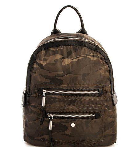 Avery Camo Backpack in Olive
