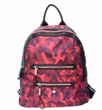 Avery Camo Backpack in Burgundy