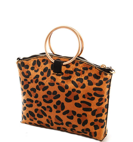 Mila Clutch in Leopard