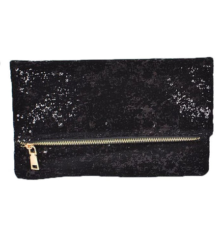 Kinsley Clutch in Black