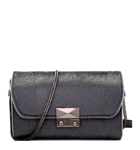 Harper Clutch in Grey