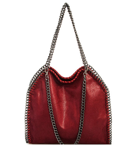 Phoebe Tote in Berry