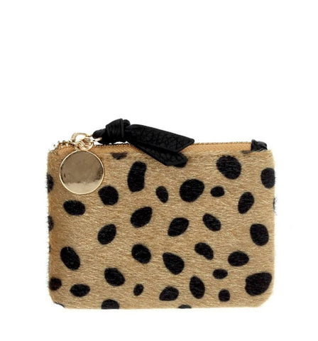 Kerri Coin Clutch in Leopard