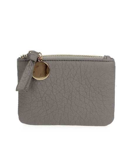Kerri Coin Clutch in Grey