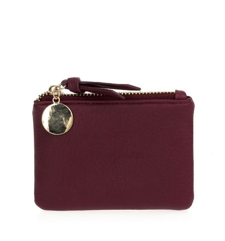 Kerri Coin Clutch in Burgundy