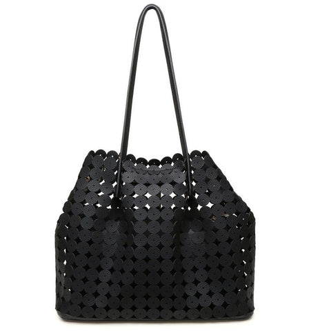 Hayden Cutout Tote in Black