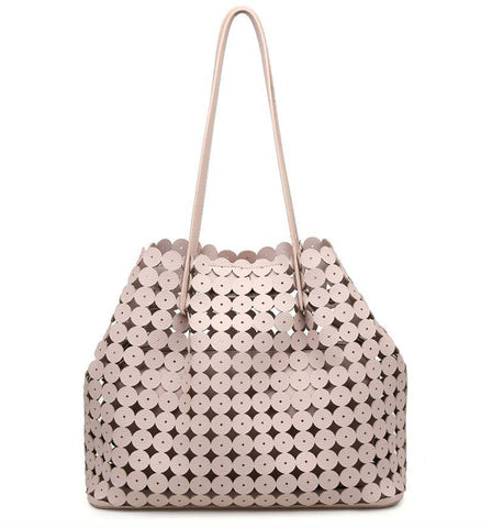 Hayden Cutout Tote in Blush
