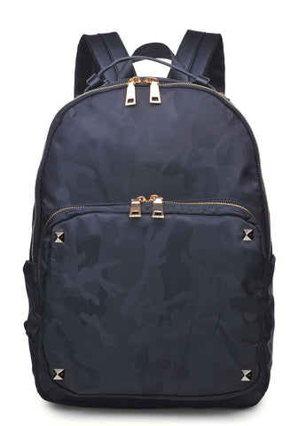 Dani Camo Backpack in Navy