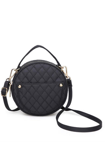 Payton Quilted Crossbody in Black