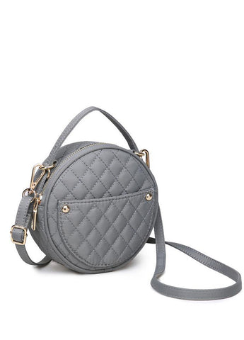 Payton Quilted Crossbody in Grey