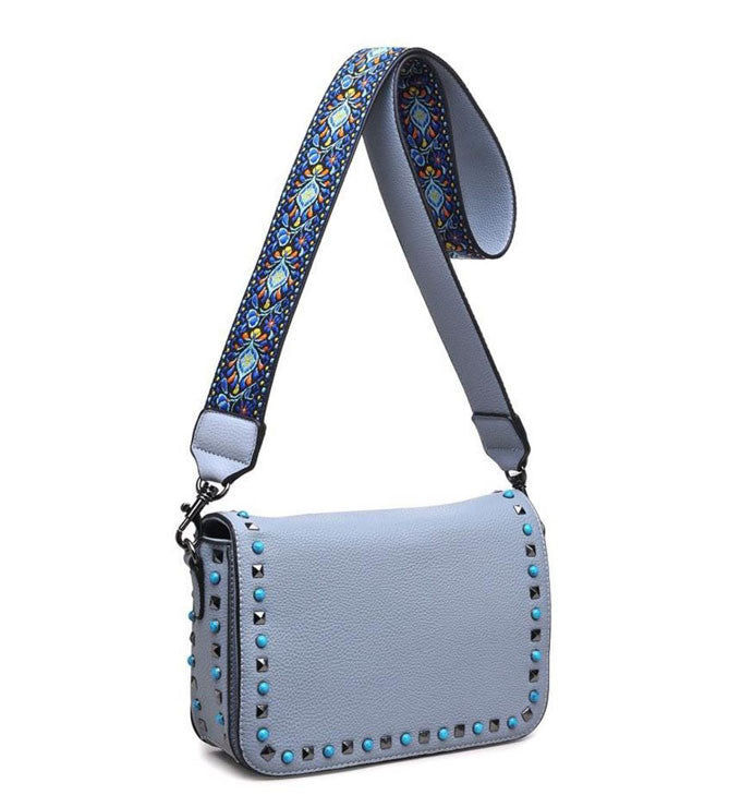 Leah Crossbody in Pale Blue