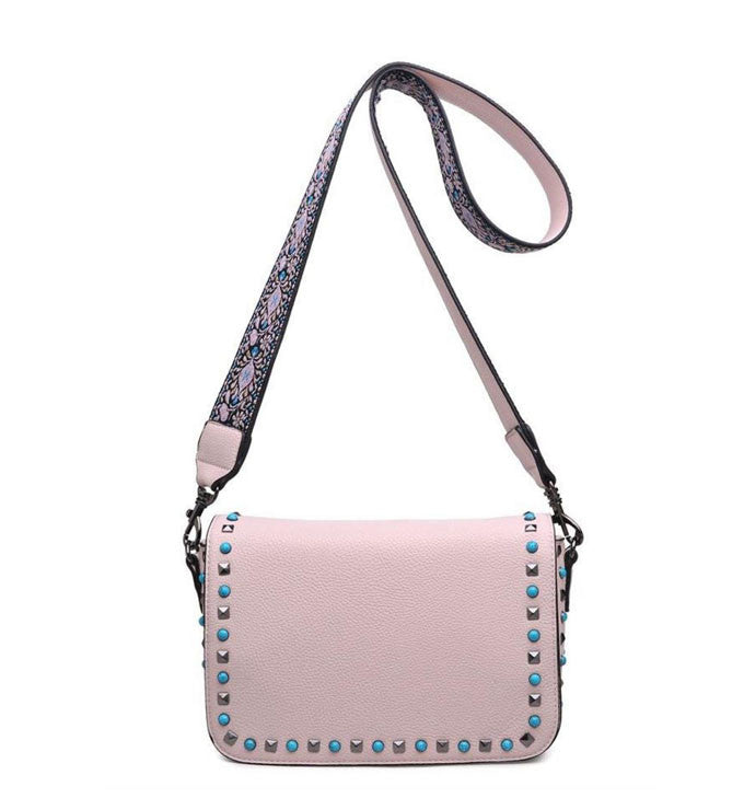 Leah Crossbody in Pale Pink