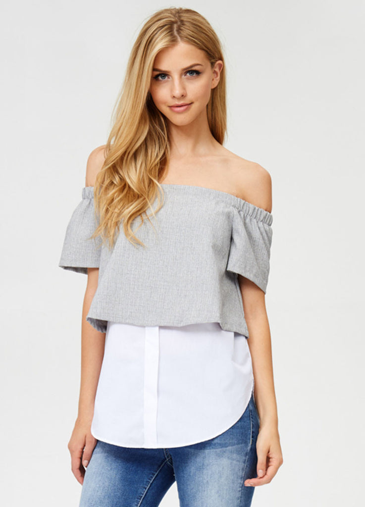 Layered Off-the-Shoulder Top